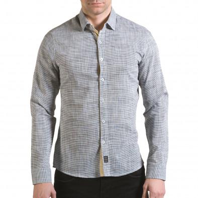Мъжка сива риза изчистен модел il170216-123 2