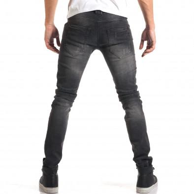 Мъжки сиви дънки с хоризонтални шевове it160916-16 3