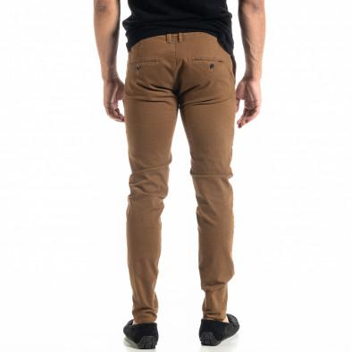 Slim fit Chino мъжки панталон цвят камел it020920-18 3