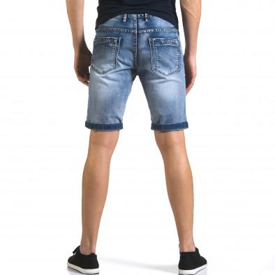 Мъжки къси дънки със скъсвания и кръпки it110316-71 3