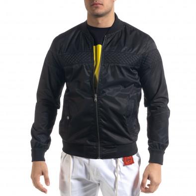 Леко мъжко яке-бомбър в черно tr110320-101 2