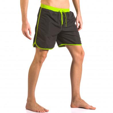 Черни бански шорти с 3 джоба ca050416-31 4