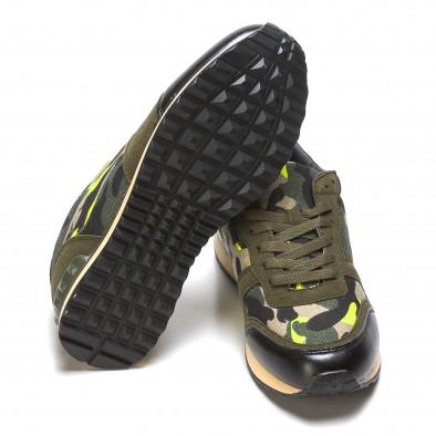 Мъжки маратонки зелен камуфлаж Flair 5