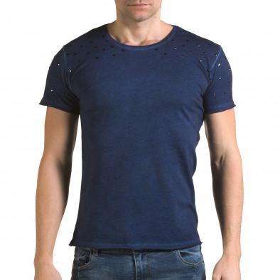 Мъжка синя тениска с метални капси Lagos 4