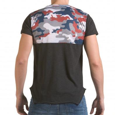 Мъжка сива тениска с камуфлаж на раменете il170216-53 3