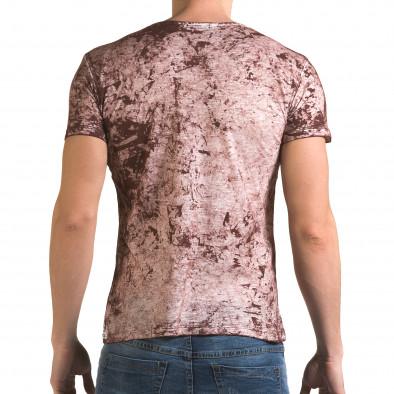 Мъжка червена тениска с 2 юмрука отпред il120216-9 3