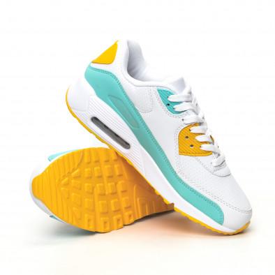 Дамски маратонки с въздушна камера бяло с акценти it051219-10 4