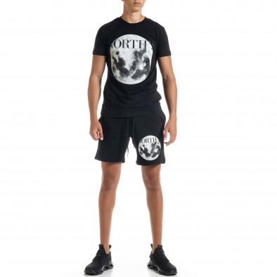 Черен мъжки спортен комплект Moon tr010720-2 2