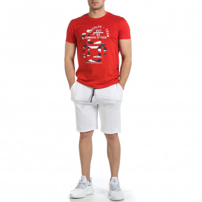 Мъжки комплект Disculpe в червено и бяло it040621-4 3