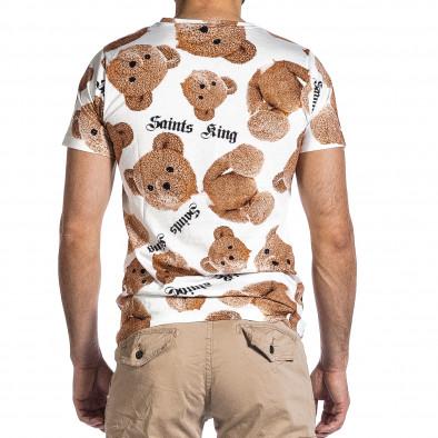 Мъжка тениска Teddy Bear в бяло it200421-1 4
