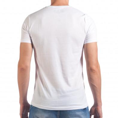 Мъжка бяла тениска Try Your Best il060616-18 3