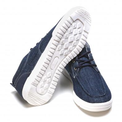 Мъжки сини кецове с бели подметки it090316-3 4