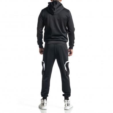 Мъжки черен спортен комплект Cagro style it010221-57 5