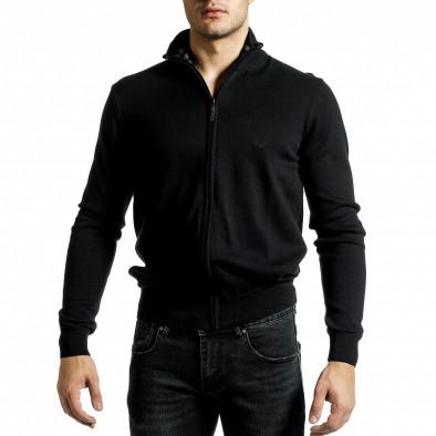 Фина мъжка жилетка с цип в черно tr231220-6 3