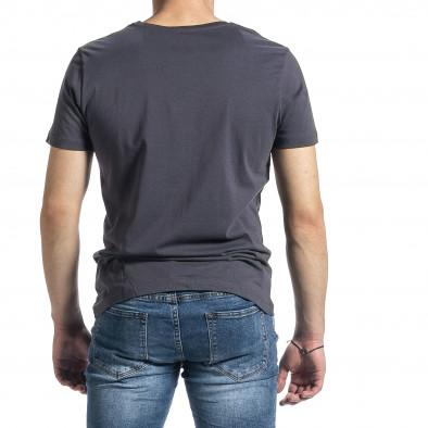 Мъжка сива тениска My Story tr270221-43 3