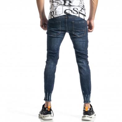 Мъжки сини дънки с прокъсвания Capri fit it010221-39 4