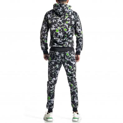 Мъжки черно-зелен анцуг All over print it010221-50 6
