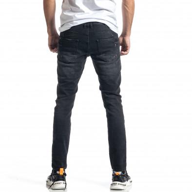 Мъжки черни дънки Destroyed Paint tr010221-34 3