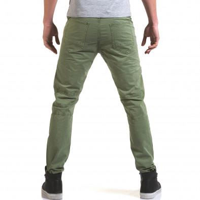 Мъжки зелен панталон с хоризонтални шевове it090216-7 3