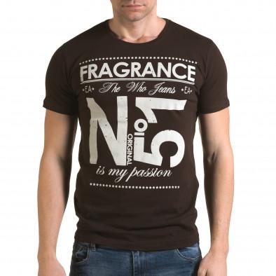 Мъжка кафява тениска Fragrance No.51 Lagos 4