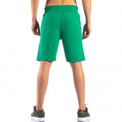 Зелени мъжки шорти за спорт изчистен модел it160616-5 3