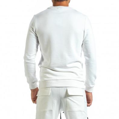 Мъжка ватирана бяла блуза tr070921-40 3