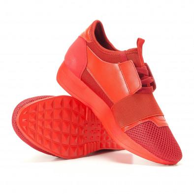 Дамски червени маратонки олекотен модел it200917-51 4