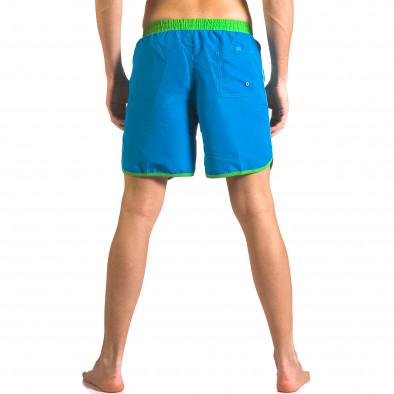 Светло сини мъжки бански шорти с джобове ca050416-28 3