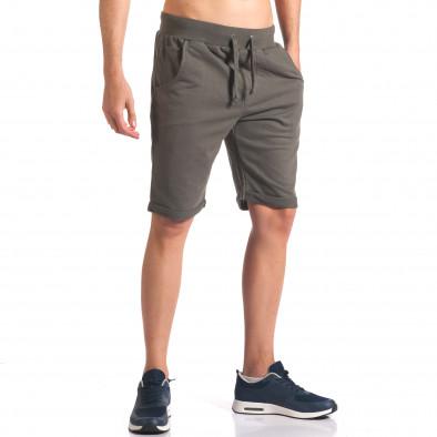 Зелени мъжки шорти за спорт it260416-27 4