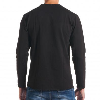 Мъжка черно-сива блуза с декоративен цип it180816-7 3