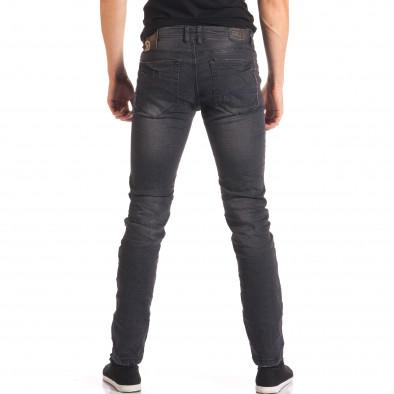Мъжки тъмно сиви дънки изчистен модел it150816-23 3