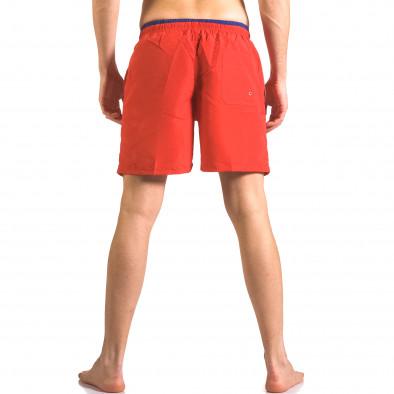 Мъжки червени бански шорти с връзки на кръста ca050416-27 3