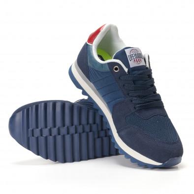 Мъжки сини маратонки с червени детайли it250118-20 4