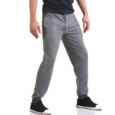 Мъжко светло сиво долнище с тъмно сив ластик Eadae Wear 5