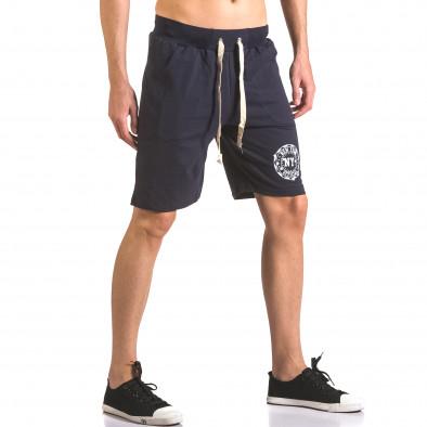 Мъжки сини шорти  за спорт с лого ca050416-43 4