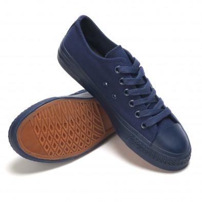 Мъжки сини кецове с връзки it190516-6 4