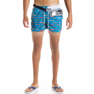 Мъжки син бански Surfboard с чанта it010720-47 2