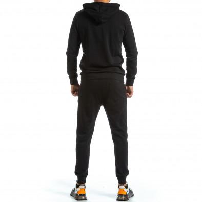 Basic мъжки черен спортен комплект от памук tr070921-51 3