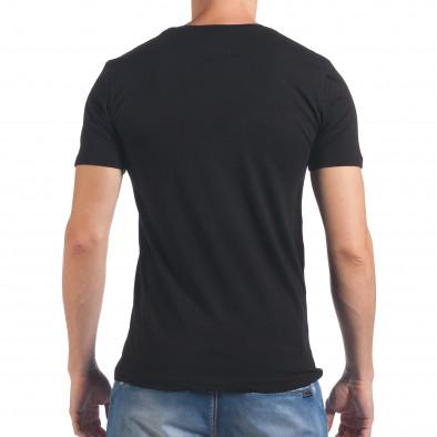 Мъжка черна тениска с надпис Amazing il060616-93 3