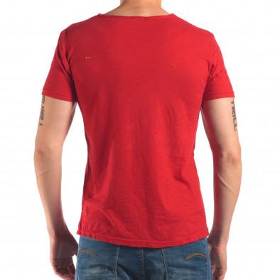 Мъжка червена тениска изчистен модел it150616-30 3