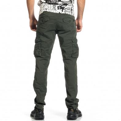 Мъжки зелен панталон с прави крачоли & Big Size tr270421-17 3