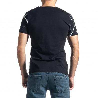 Мъжка черна тениска Famous tr010221-4 3
