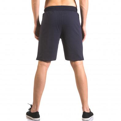 Мъжки сини шорти  за спорт с лого ca050416-43 3