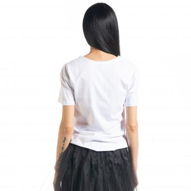 Дамска бяла тениска My Universe il080620-8 3