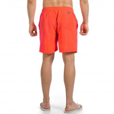 Мъжки неоново оранжев бански изчистен модел it140317-190 4