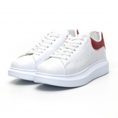 Бели дамски кецове червена пета tr180320-20 3