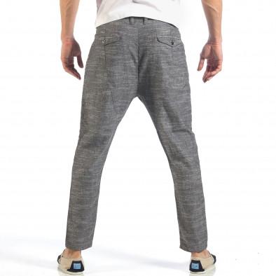 Мъжки сиви леки панталони с колан шнур it260318-109 4