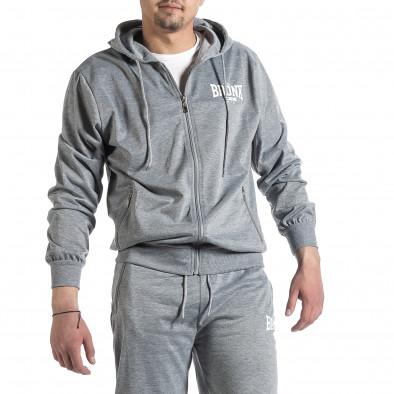 Мъжки светлосив спортен комплект Big Size it270221-55 3