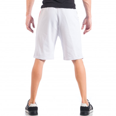 Бели мъжки шорти с червени и черни части it050618-41 4