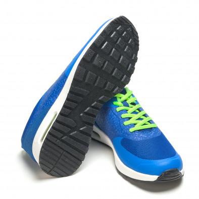 Сини мъжки маратонки с въздушни камери it210416-6 4